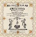Souvenir paper napkin celebrating the marriage between Hugh Franklin and Elsie Duval, Sep. 1915. (22299980894).jpg