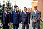 Soyuz MS-10 prime and backup crew members at the Kremlin Wall.jpg
