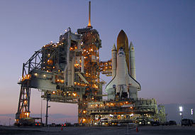 Space Shuttle Discovery rests on Launch Pad 39B.jpg