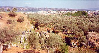 History of Sparta - Sparta seen from Therapne