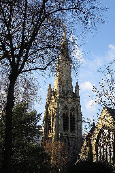 File:Spire of St Mellitus in winter.JPG