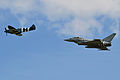 Spitfire + Typhoon. Duxford D-Day Airshow 26-5-2014 (14269302255).jpg