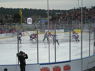 Spokane Chiefs - The Chiefs hosted the Kootenay Ice in the WHL's first-ever outdoor hockey game at Avista Stadium in Spokane. The Chiefs won the game 11-2.