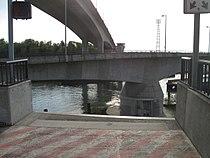 Spokane Street Bridge - view from east approach of swing span turned (2009).jpg
