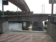 Spokane Street Bridge - view from east approach of swing span turned (2009).jpg