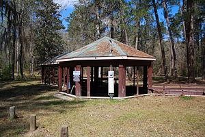 Bladon Springs State Park - Octagonal spring pavilion, the site's last remaining antebellum-era structure