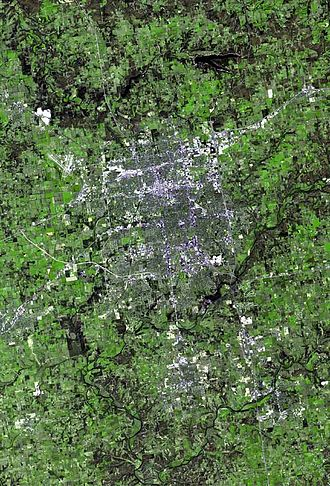 Springfield metropolitan area, Missouri - Satellite view of Springfield