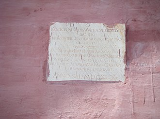 Saint Agatha's Tower - Inscription on the tower dated 1649