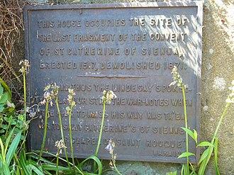 Sciennes - Image: St. Catherine's Convent plaque, Sciennes