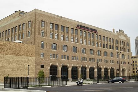St. Louis Post-Dispatch building in Downtown St. Louis St. Louis Post-Dispatch headquarters.JPG