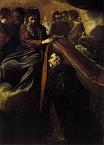 St Ildefonso Receiving the Chasuble from the Virgin by Diego Velázquez.jpg