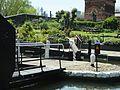 St Pancras Lock (no 4) Regent's Canal with watertower 0647.JPG