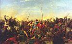 ציור המתאר את קרב גשר סטמפורד