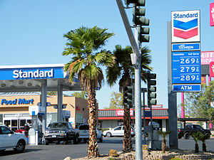 Chevron Corporation - A Chevron station branded under the Standard name in Las Vegas