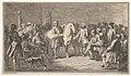 Standing men presenting a horse before a group of seated men MET DP834208.jpg