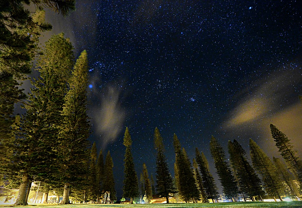 Stars from Dole Park, Lanai, Hawaii