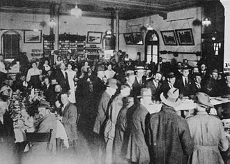 Toowoomba railway station - Dining room at the Toowoomba railway station, circa 1919