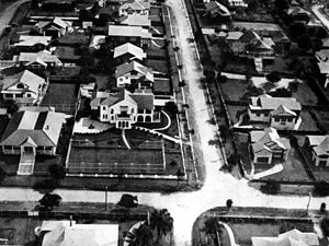 Clayfield, Queensland - Aerial view of houses in the suburb in 1930