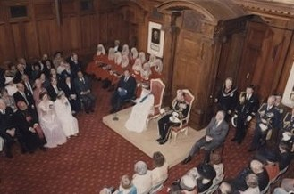 New Zealand Parliament - Queen Elizabeth II and Prince Philip at the Opening of Parliament, 13 November 1986