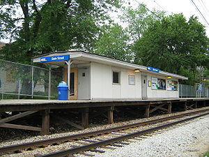 State Street station (Illinois) - Image: State Street Metra Station