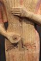 Statua funeraria femminile detta la dea di berlino, da keratea in attica, 580-560 ac ca. 02.JPG