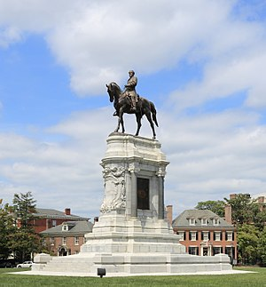 The Lee statue on Monument Avenue, Richmond, Virginia