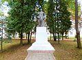 Statue of Lenin at Building 3 in Krynitsa Sanatorium in Zhdanovichi 23 August 2014.jpg