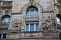 Statues and bas-reliefs of the Headquarters of the Hungarian National Bank (01).jpg