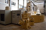 Staustufe Griesheim im Generatorhaus 1