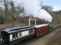 Steam train at Beamish (Geograph 5723058).jpg