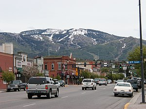 Downtown Steamboat Springs at the end of May; ...