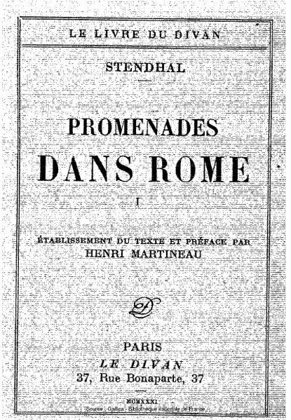 File:Stendhal - Promenades dans Rome, tome 1.djvu