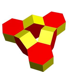 Toroidal polyhedron - Image: Stewart toroid 6 hexprisms