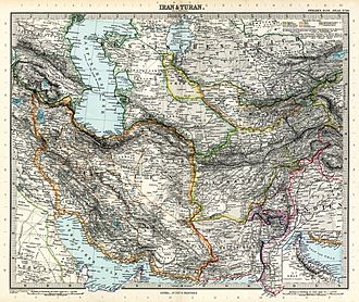 "Turan - Another 19th century ""Map of Iran and Turan"", drawn by Adolf Stieler"