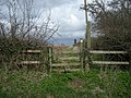 Stile to a footpath - geograph.org.uk - 738347.jpg
