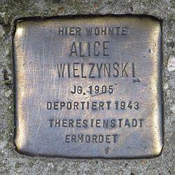 Photo of Alice Mielzynski brass plaque