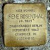 Stolperstein Eppenhainer Strasse 6 Rosenthal Irene