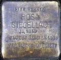 Stumbling block for pink sealing wax (Thieboldsgasse 134)