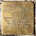 Stolperstein Ludwigkirchplatz 8 (Wilmd) Martha Heimann.jpg