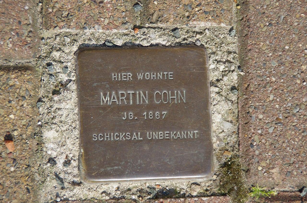 Stolperstein Martin Cohn Pattensen.jpg