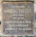 Stolperstein Savignyplatz 4 (Charl) Martha Treitel.jpg