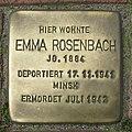 Stolperstein Verden - Emma Rosenbach (1884) cutout.jpg