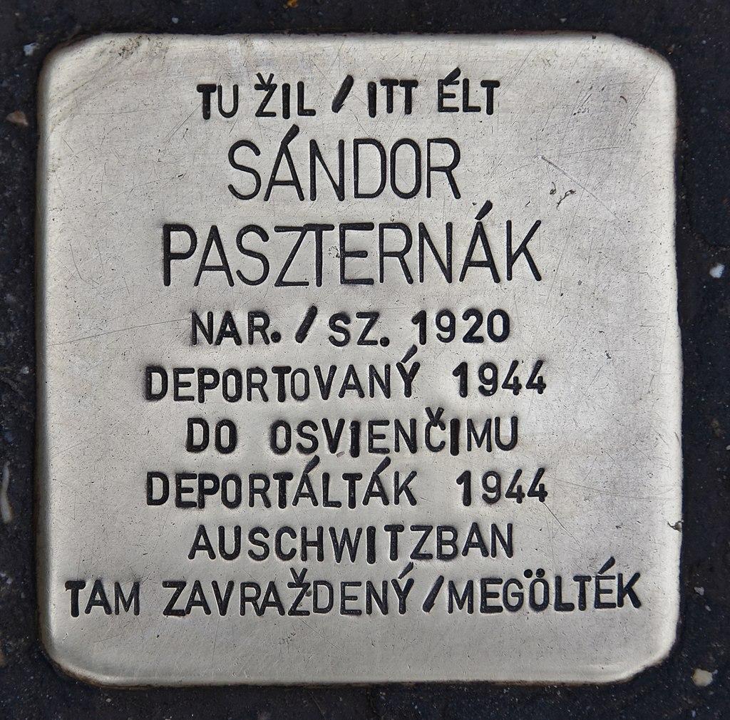 Stolperstein für Sandor Paszternak.JPG