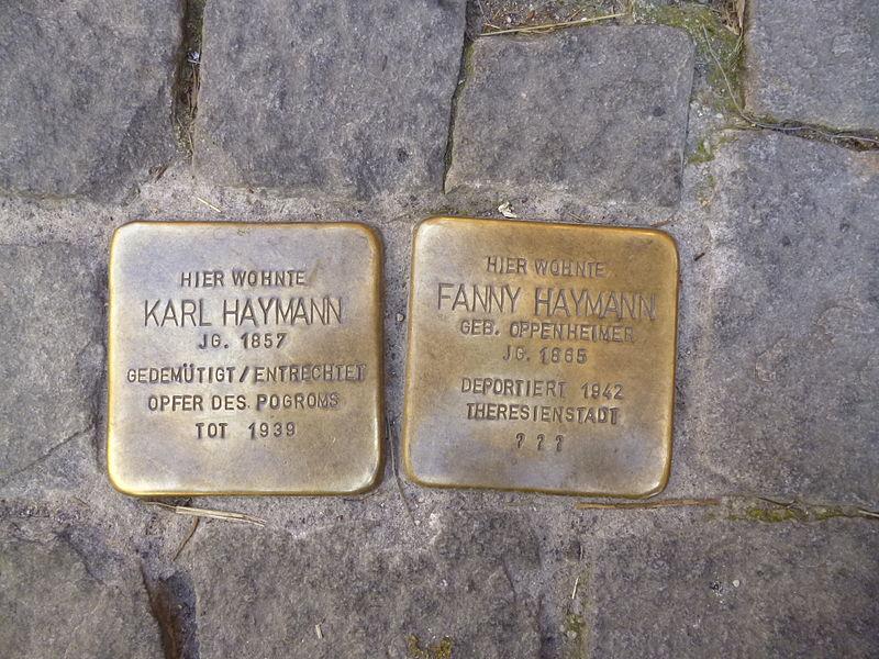 File:Stolpersteine Amberg Haymann.jpg