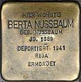 Stolpersteine Würzburg, Berta Nussbaum (Domstraße 68).jpg