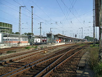 Stralsund Hauptbahnhof - Tracks on the approach from Rostock