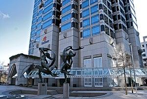 SunTrust Plaza - Image: Street Entrance at the Sun Trust Plaza Atlanta