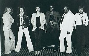 """Pam Tillis - Tillis (third from left) with """"Strutt"""" Band, 1982"""