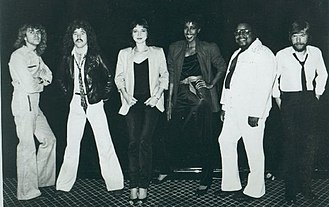 "Pam Tillis - Tillis (third from left) with ""Strutt"" Band, 1982"