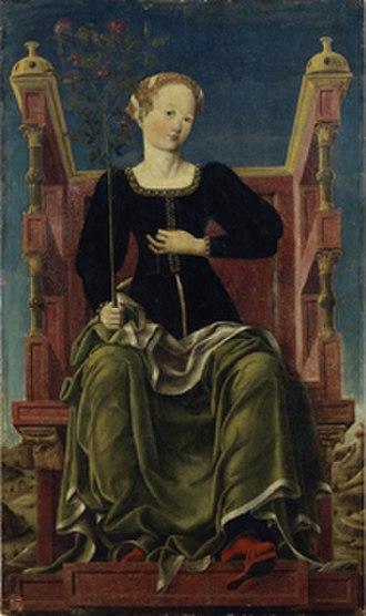 Studiolo of the Palazzo Belfiore - Image: Studiolo di belfiore, erato di angelo maccagnino e collaboratori di cosmè tura